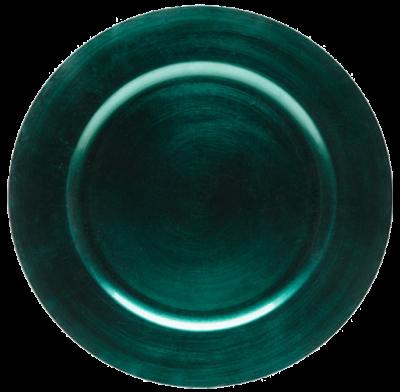 Sousplat Clássico Azul Pavão 33x33